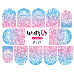 Whats Up Nails - P117 Lace Up Water Decals