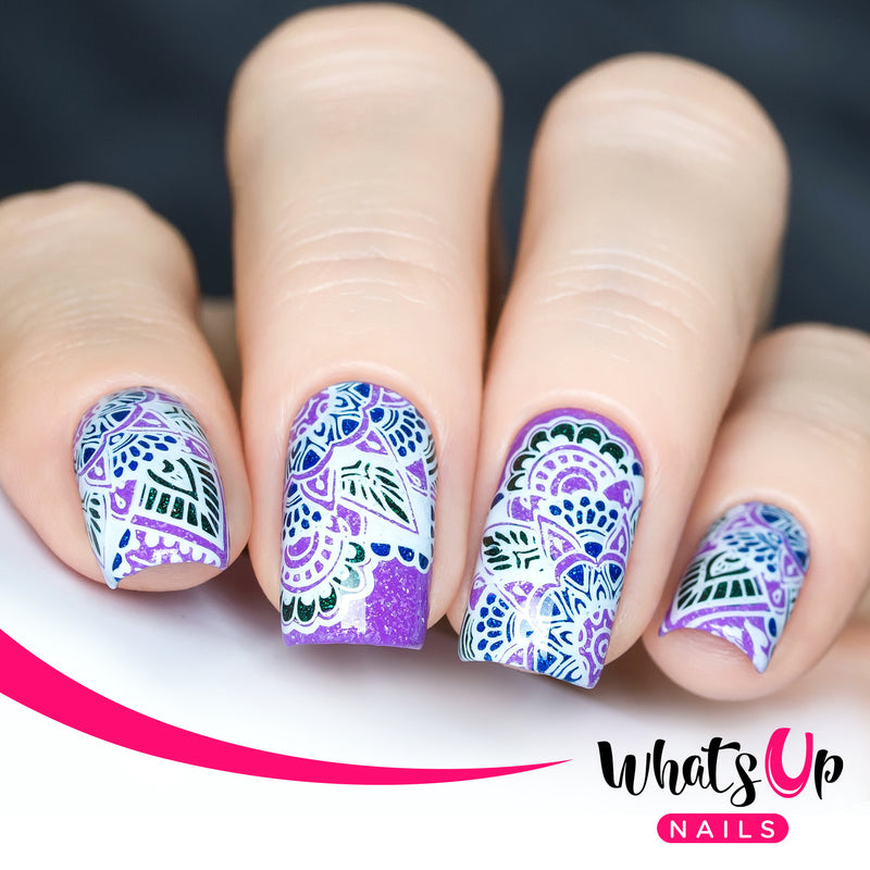 Whats Up Nails - A010 Henna Entrancement Stamping Plate
