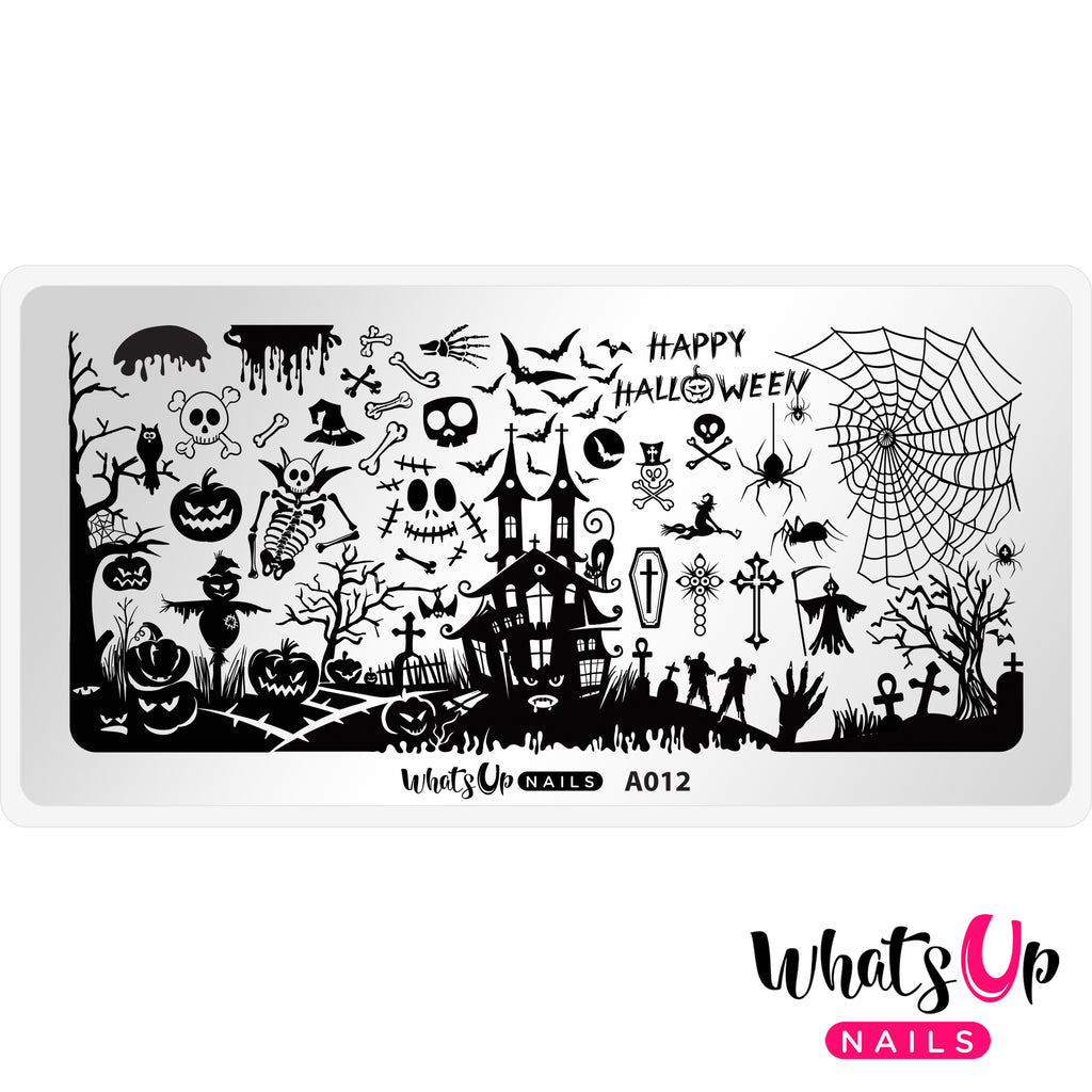 Whats Up Nails - A012 Happy Halloween