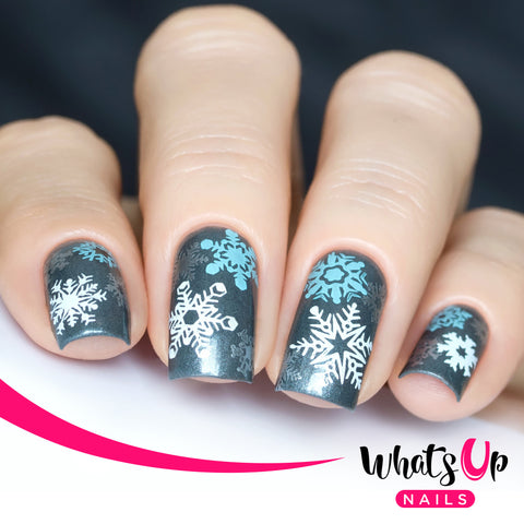 Whats Up Nails - A014 Holiday Snowfall
