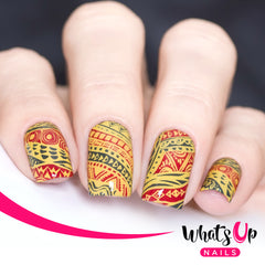Whats Up Nails - A017 Tribal Feather