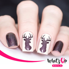 Whats Up Nails - Antler Stencils