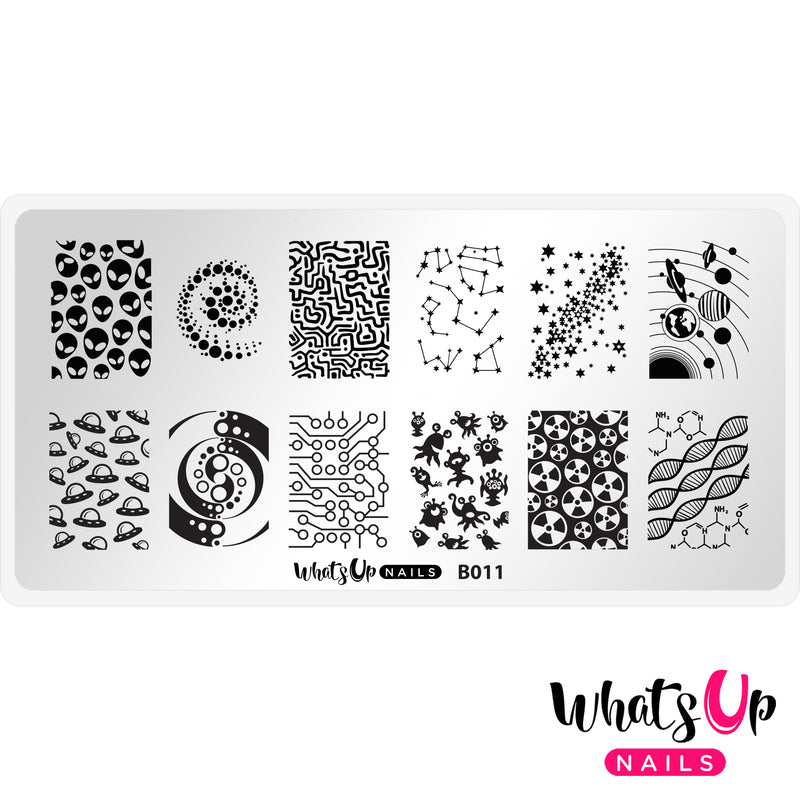 Whats Up Nails - B011 Intergalactic Encounters Stamping Plate