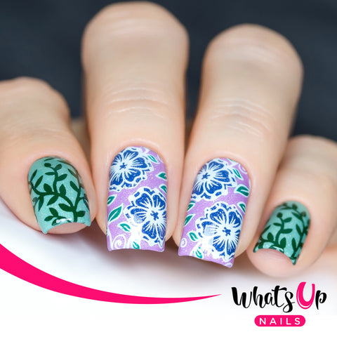 Whats Up Nails - B018 Fields of Flowers