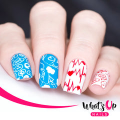 Whats Up Nails - Stamping Starter Kit (B024, Hotter than Red, Magnified Stamper)