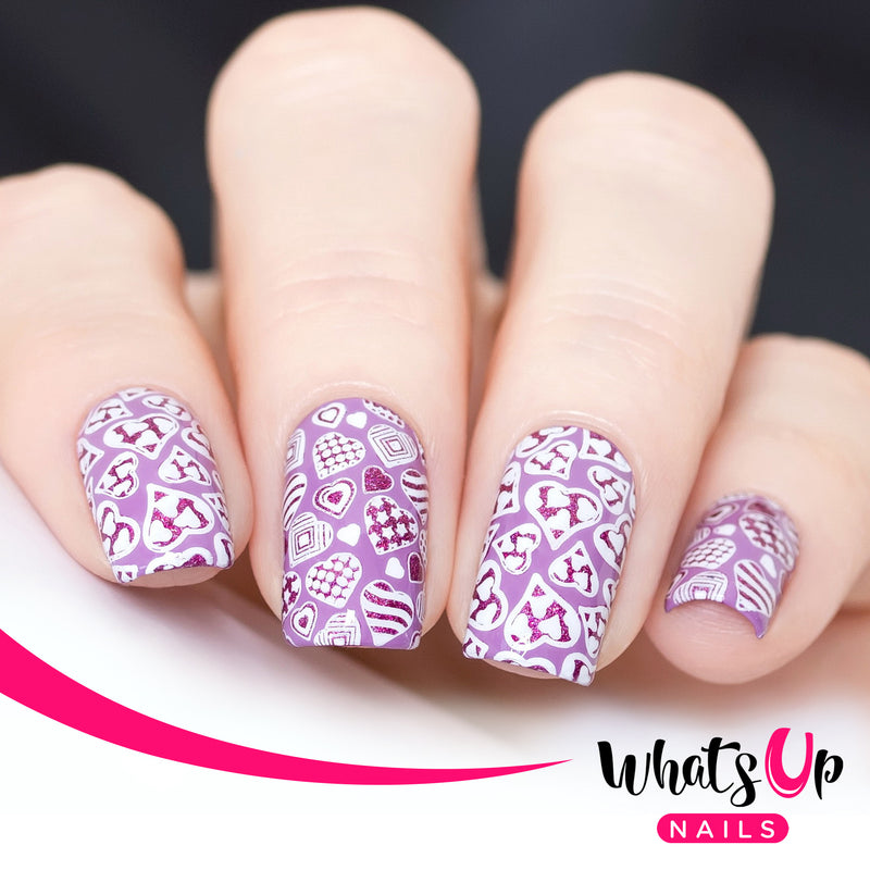Whats Up Nails - Stamping Starter Kit (B041, Roses are Gold, Magnified Stamper)