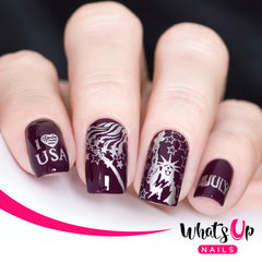 Whats Up Nails - B043 Stars and Stripes