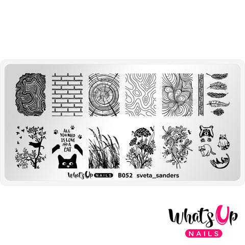 Whats Up Nails - B052 sveta_sanders Stamping Plate