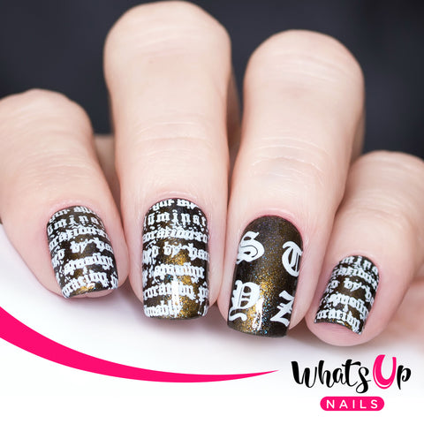 Whats Up Nails - B063 Goth is the New Black
