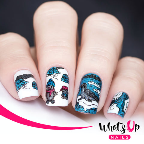 Whats Up Nails - B065 Winter Flurryland
