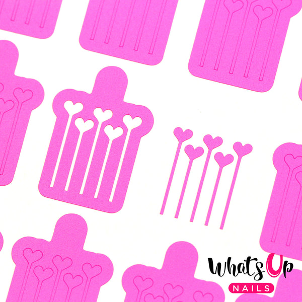 Whats Up Nails - Balloons Stencils