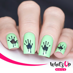 Whats Up Nails - Bloody Hands Stencils