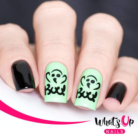 Whats Up Nails - Boo! Stencils