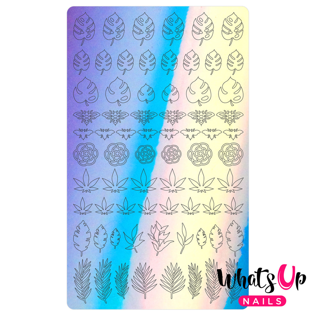 Whats Up Nails - Botanical Garden Stickers (Blue) - Daily Charme Collaboration