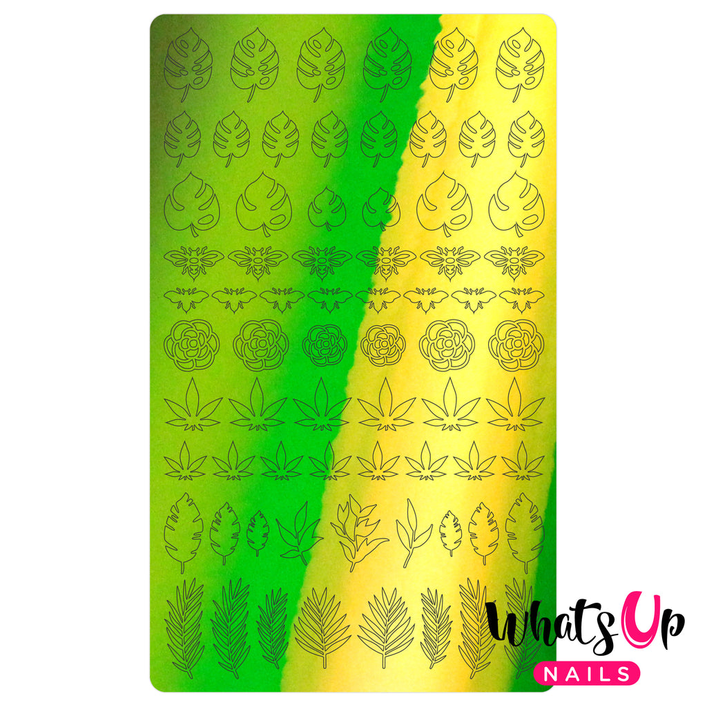 Whats Up Nails - Botanical Garden Stickers (Lime) - Daily Charme Collaboration