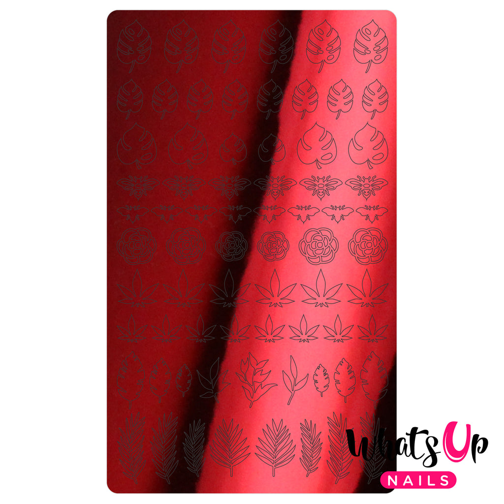 Whats Up Nails - Botanical Garden Stickers (Red) - Daily Charme Collaboration