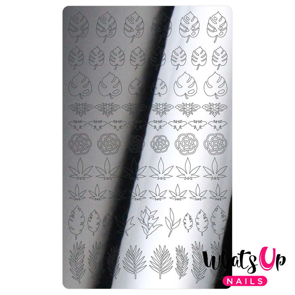 Whats Up Nails - Botanical Garden Stickers (Silver) - Daily Charme Collaboration