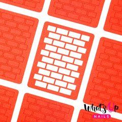Whats Up Nails - Bricks Stencils