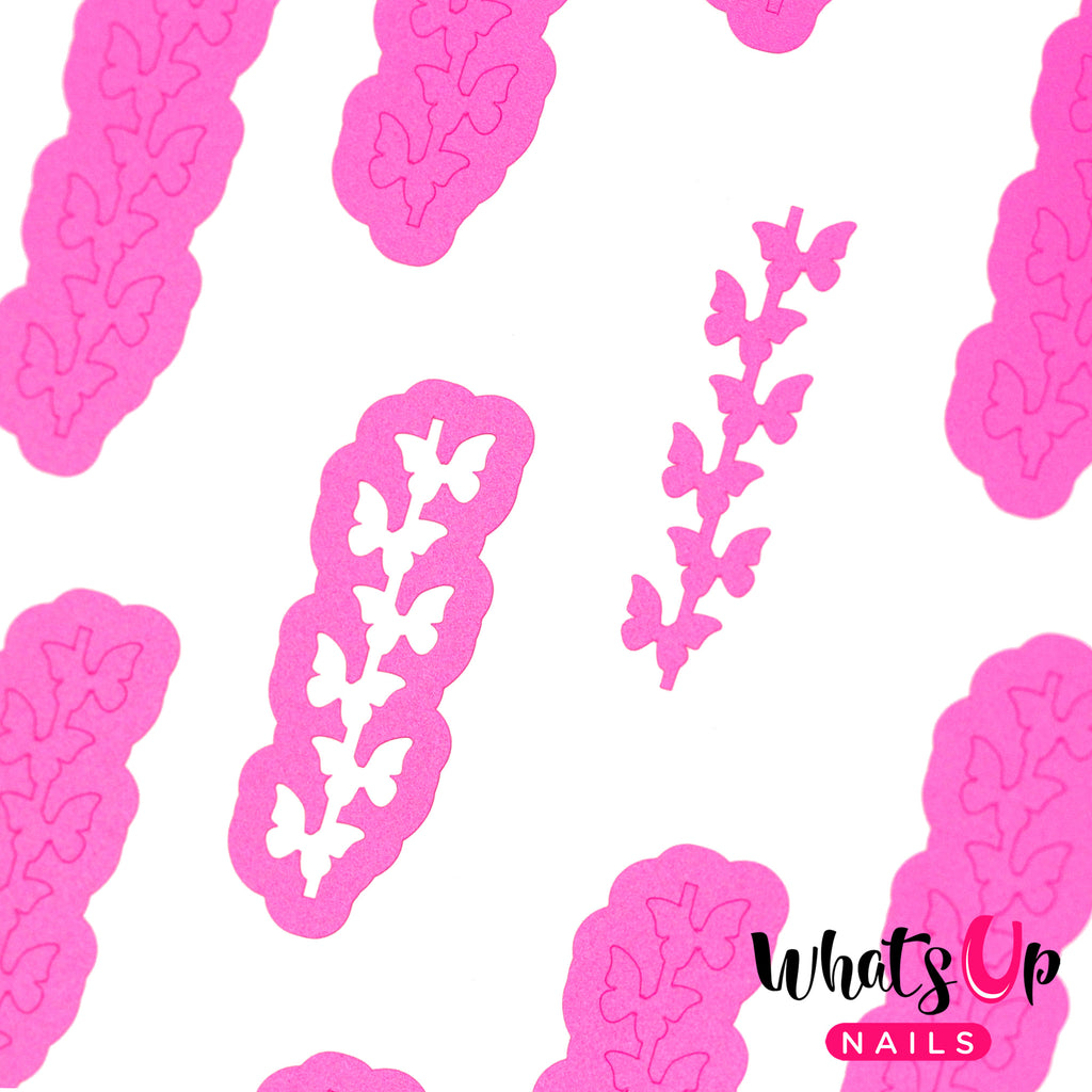 Whats Up Nails - Butterfly Chain Stencils