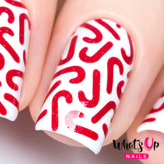 Whats Up Nails - Candy Canes Stencils