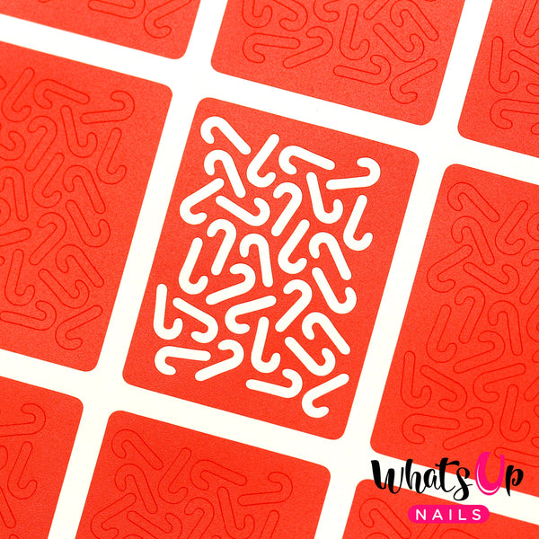 Whats Up Nails - Candy Canes Stickers & Stencils