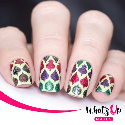Whats Up Nails - Christmas Bulbs Stencils