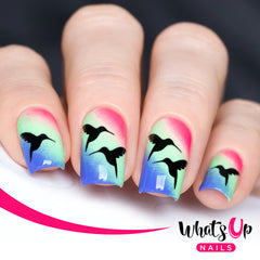 Whats Up Nails - Colibri Stencils