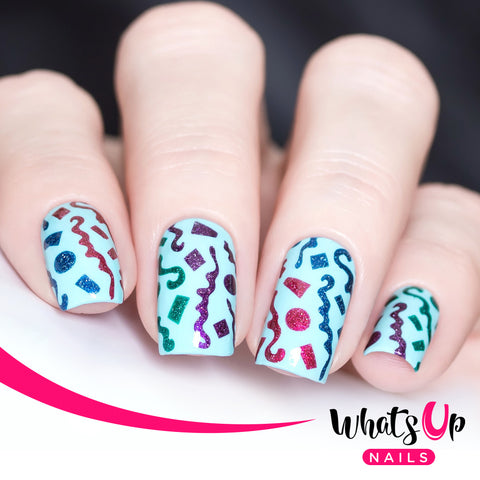 Whats Up Nails - Confetti Stencils