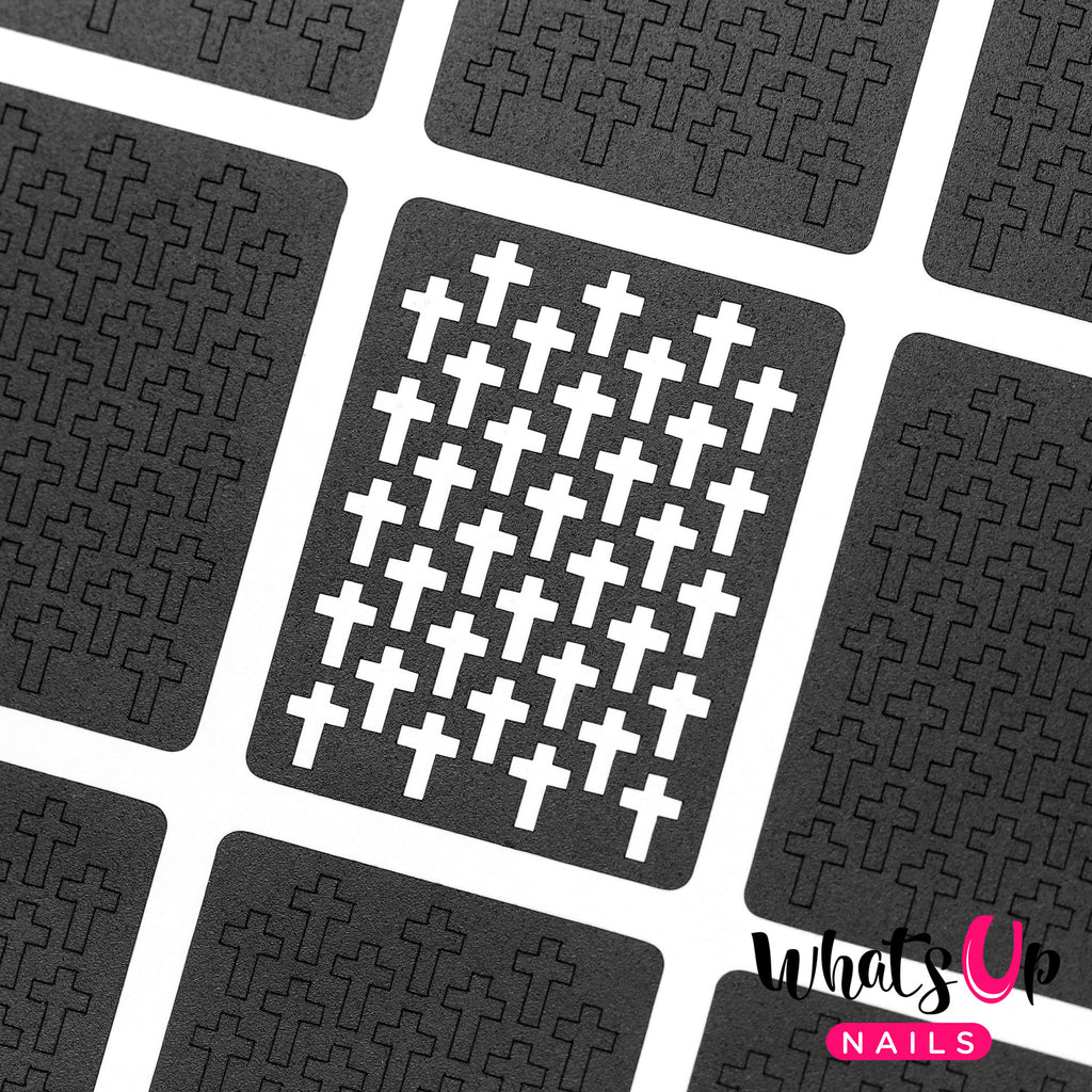 Whats Up Nails - Crosses Stencils (Discontinued)