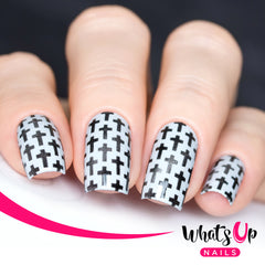 Whats Up Nails - Crosses Stencils