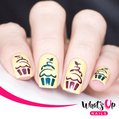 Whats Up Nails - Cupcake Stencils