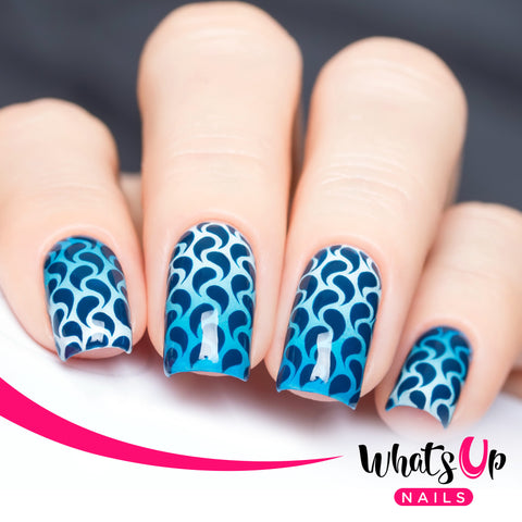 Whats Up Nails - Droplets Stencils