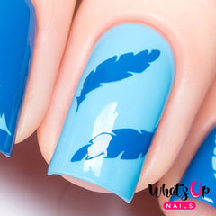 Whats Up Nails - Feather Stencils