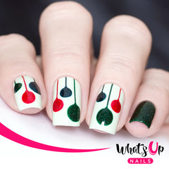 Whats Up Nails - Festive Globes Stencils