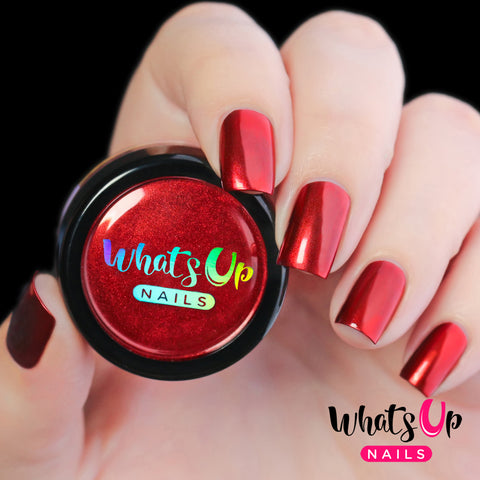 Whats Up Nails - Fire Red Chrome Powder
