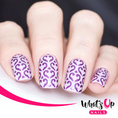Whats Up Nails - Fleur De Heart Stencils