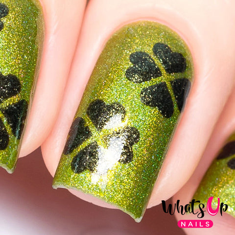 Whats Up Nails - Four Leaf Stencils