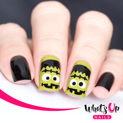 Whats Up Nails - Frankenstein's Monster Stencils