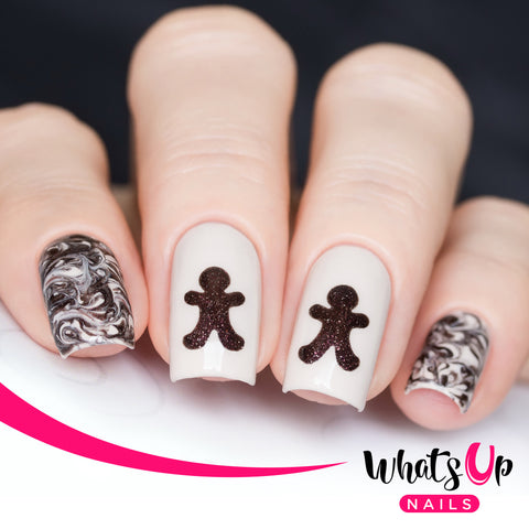 Whats Up Nails - Gingerbread Man Stencils