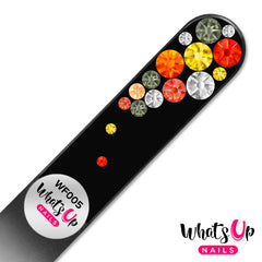 Whats Up Nails - Glass Nail File Bubbles Black Fireopal