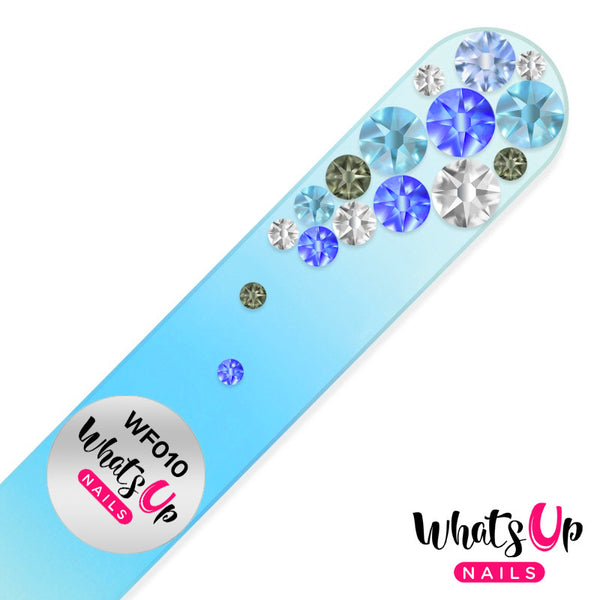 Whats Up Nails - Glass Nail File Bubbles Color Sapphire