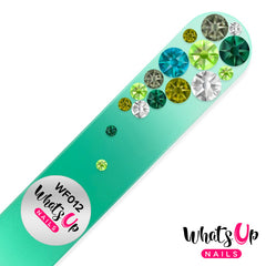 Whats Up Nails - Glass Nail File Bubbles Color Green