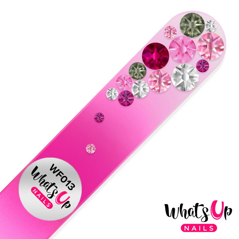 Whats Up Nails - Glass Nail File Bubbles Color Pink