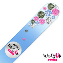 Whats Up Nails - Glass Nail File Bubbles Color Light Sapphire