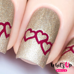 Whats Up Nails - Heart Chain Stencils