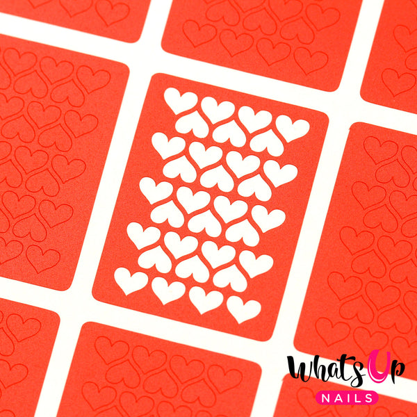 Whats Up Nails - Heart Lines Stencils