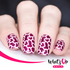 Whats Up Nails - Heart Network Stencils