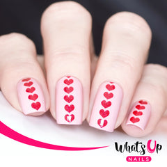 Whats Up Nails - Heart Stack Stencils