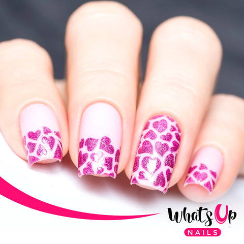 Whats Up Nails - Hearts Stencils