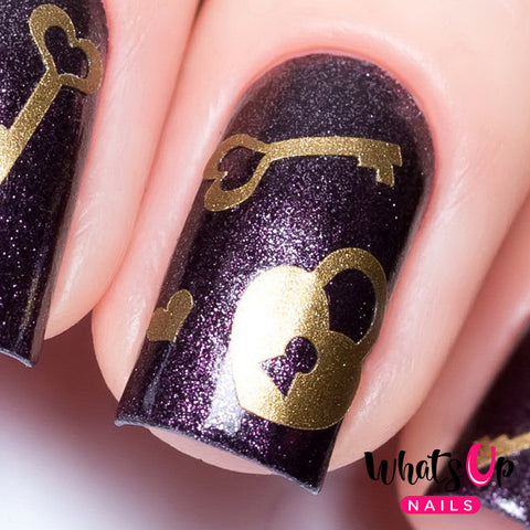 Whats Up Nails - Key & Lock Stencils (Discontinued)